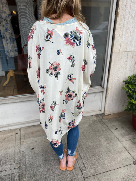 Flow With it Floral Cardigan
