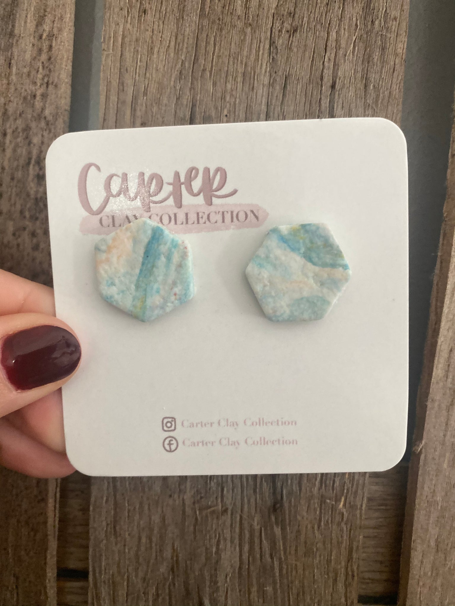 Light Blue Studs {CarterClay Collection}