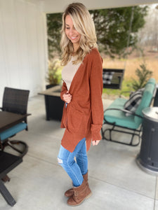 Long Sleeve Brick Cardigan