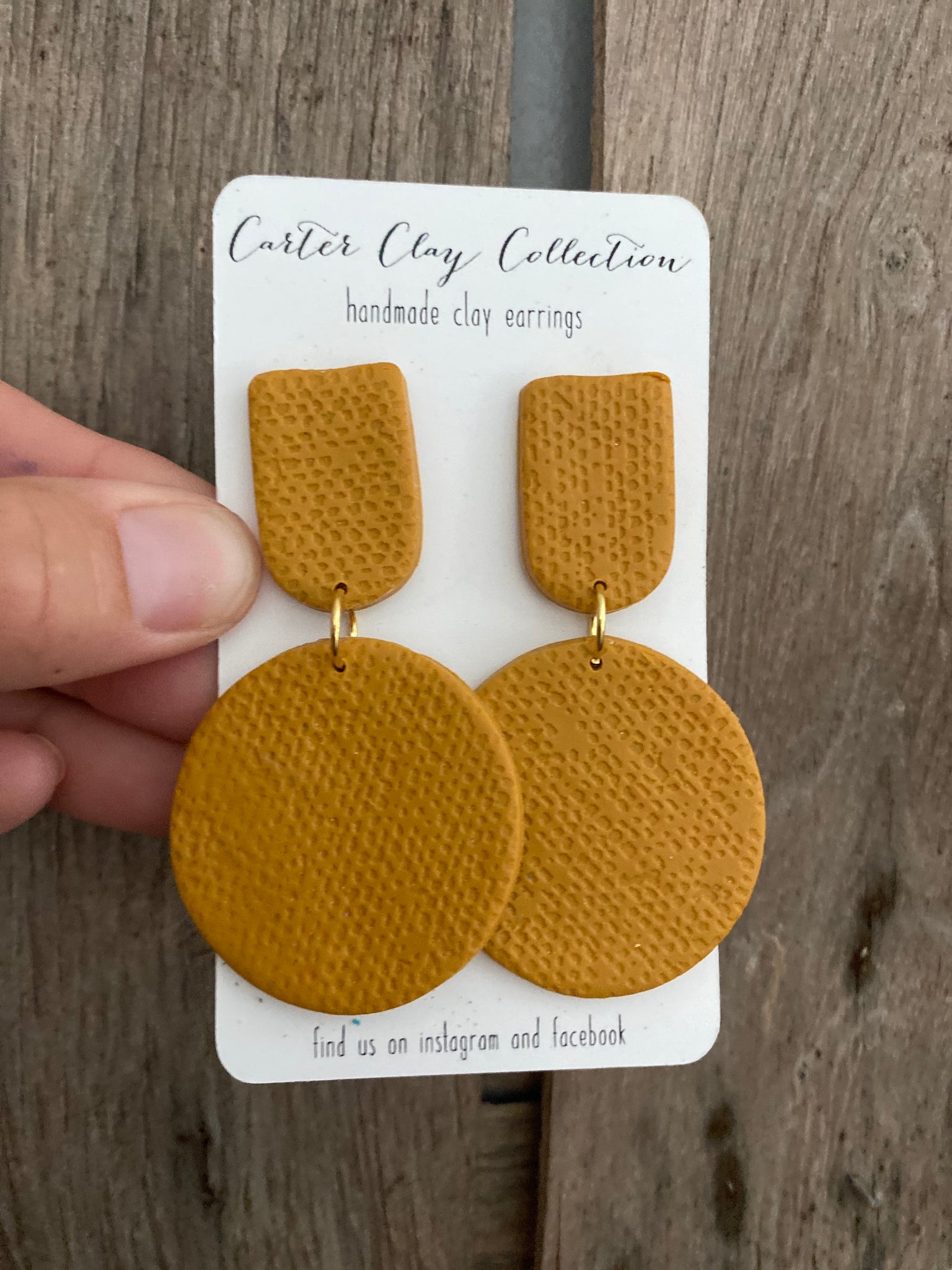 Mustard Press Dangles {CarterClay Collection}