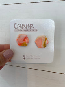 Peach Mix Studs {CarterClay Collection}