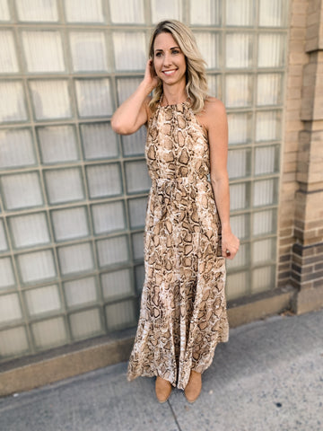 All About Snake Print Maxi