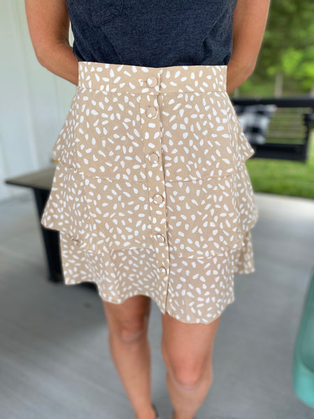 On the Lookout Taupe Skirt