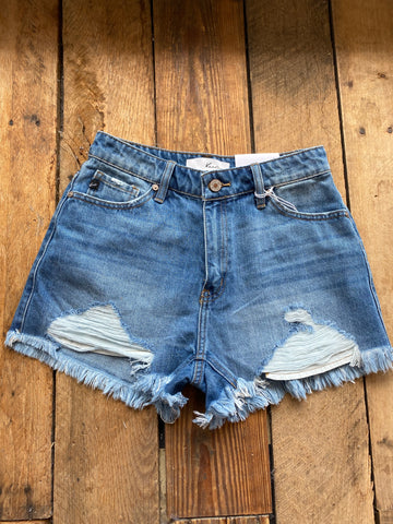 Hazel High Rise Shorts, Medium Wash