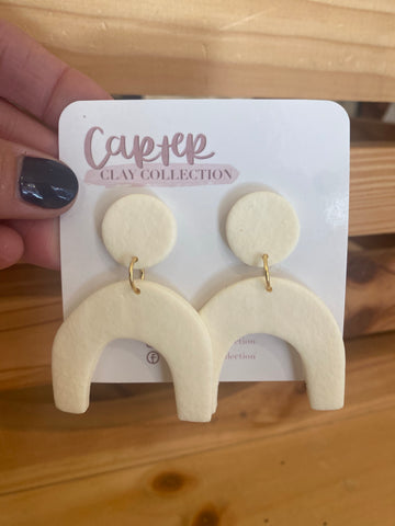 Cream Arched Dangle {CarterClay Collection}