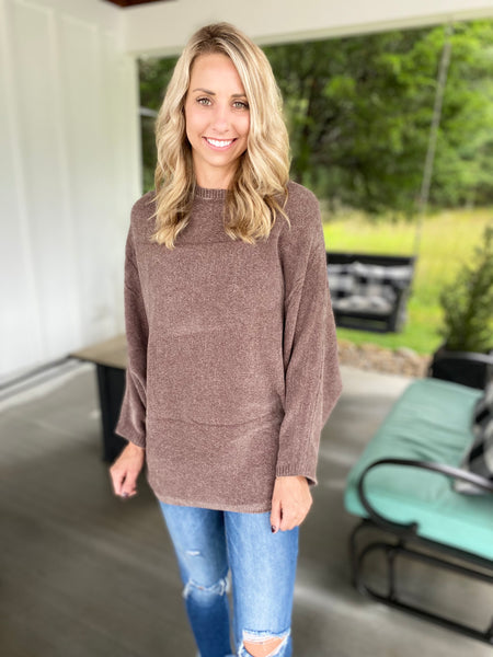 Loose Fit Boatneck Sweater