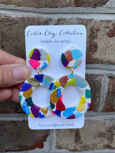 Colorful Circle Dangle {CarterClay Collection}