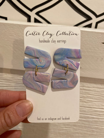 Zigzag Multicolored Earring {CarterClay Collection}