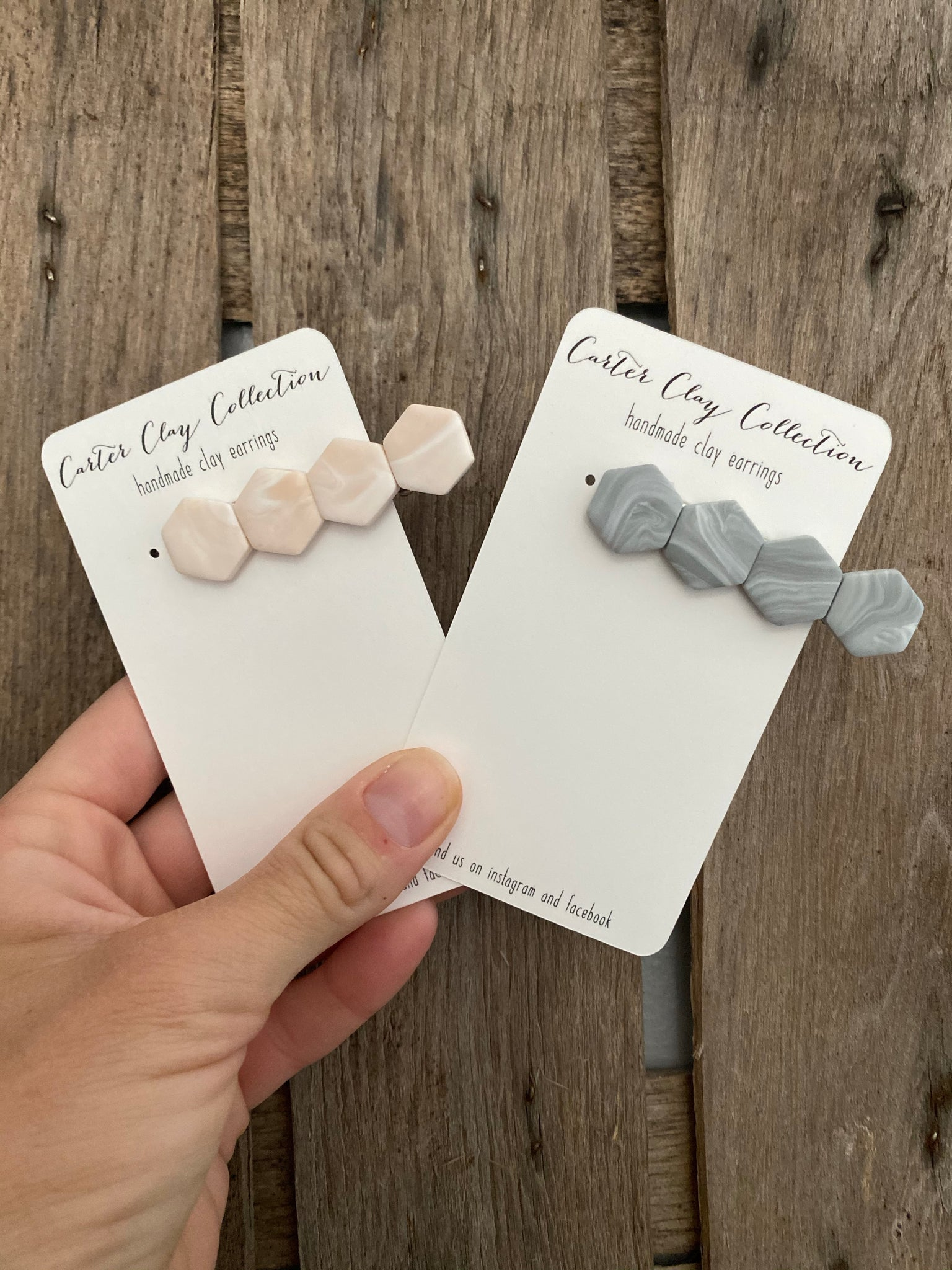 Small Neutral Hair Clips {CarterClay Collection}
