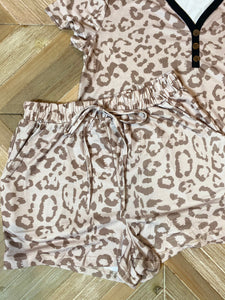 Apricot 2 piece Leopard Set