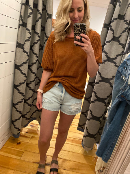 Brown Knit Top