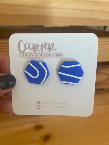Blue and White Stud {CarterClay Collection}
