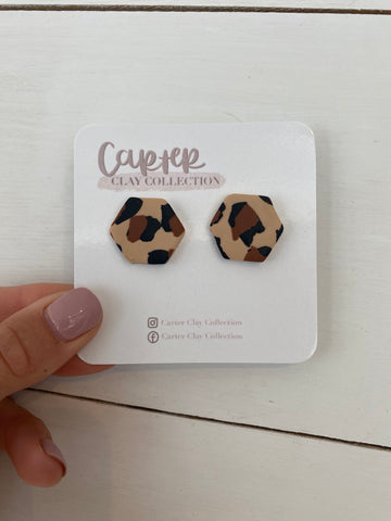 Leopard Studs {CarterClay Collection }