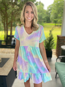 Mint Tiedye Dress