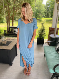 Everyday Maxi Dress, Blue Grey