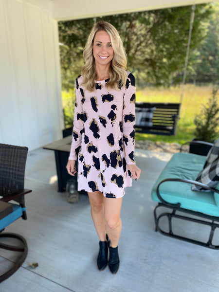 Animal Print Blush Print Dress