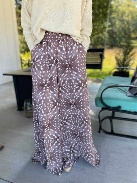 Spotted Flowy Pants