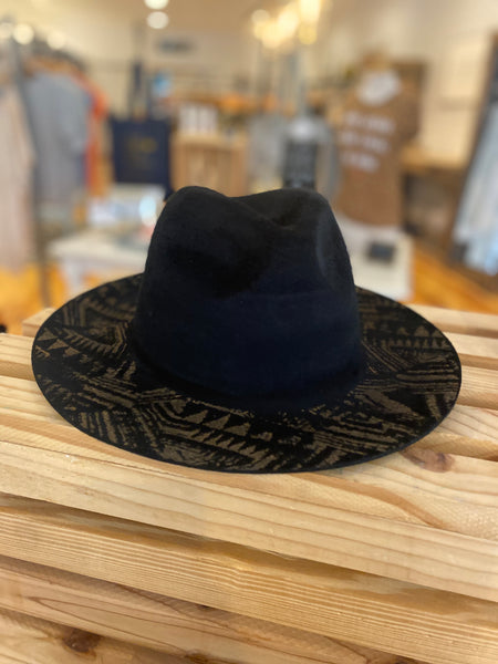 Hand Brushed Ethnic Print Hat