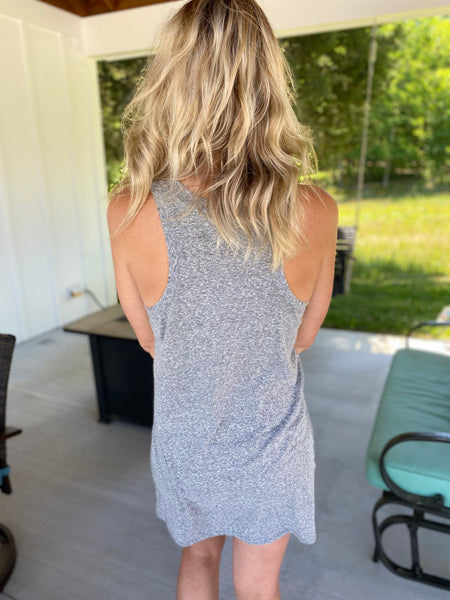 Triblend Muscle Dress Heather Grey {ZSupply}