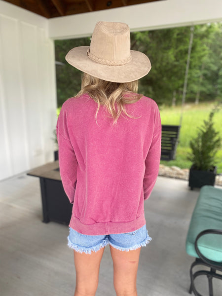 Everyday Magenta Sweatshirt