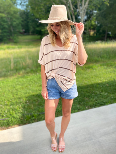 Jersey Knit Striped Top