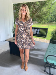 Leopard Tee Shirt Dress