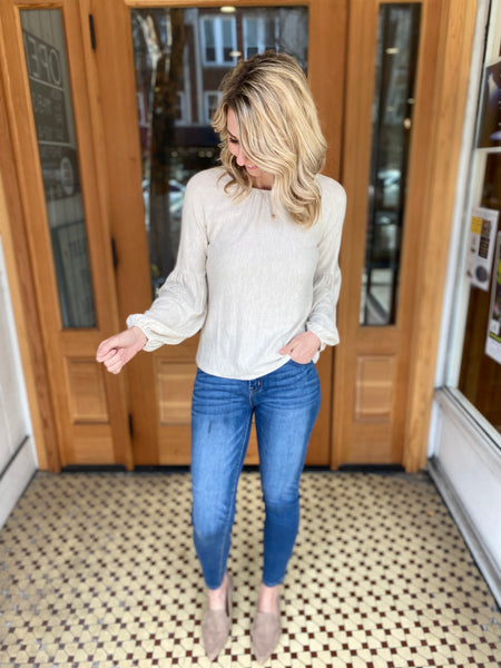 Oatmeal Everly Knit Top