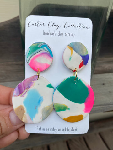 Multicolored Dangles {CarterClay Collection}