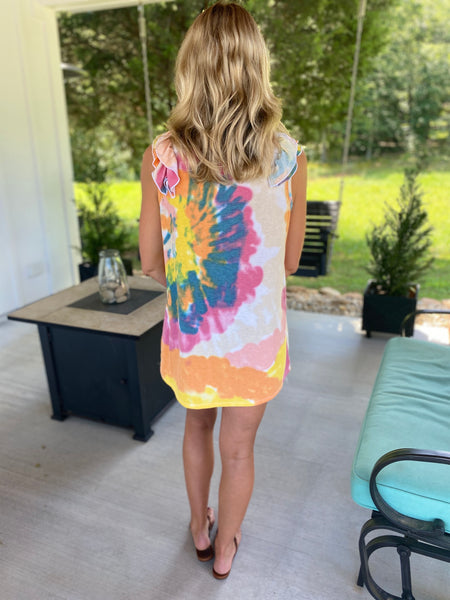 Tiedye With a Ruffle Tank