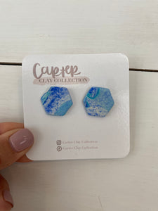 Blue Hue Studs {CarterClay collection}