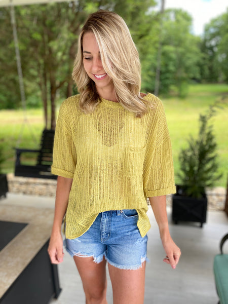 A Touch of Sunshine Yellow Top