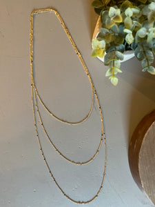 Layered Small Chain Necklace, Gold