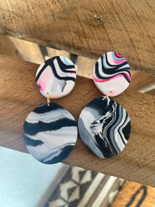 Black Summer Dangles {Carter Clay Collection}
