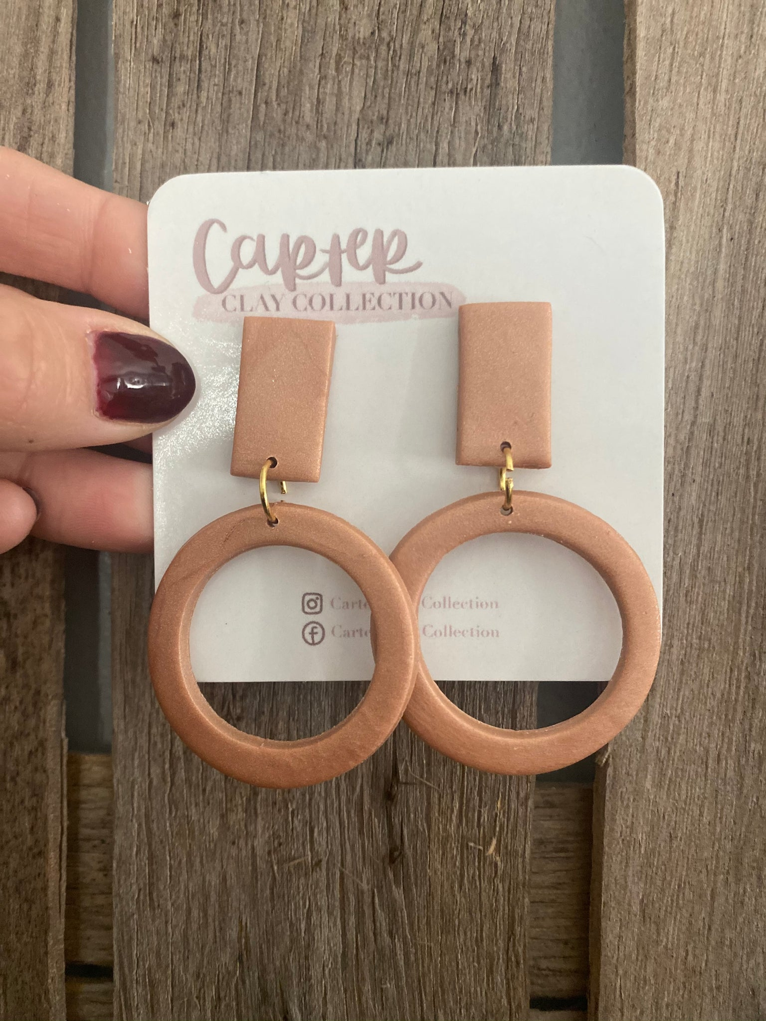 Simmer Open Circle Dangle {CarterClay Collection}