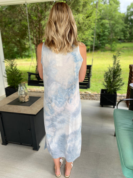 Light As A Feather Tiedye Midi Dress