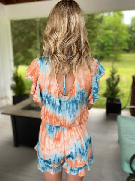 Dyed with Tie Dye Romper
