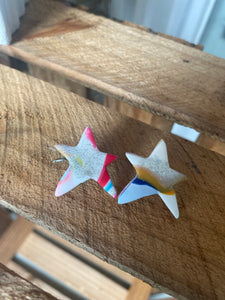 Star Studs with Shimmer {Carter Clay Collection}