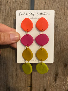 Stone Multicolored 4 Layer Dangle {CarterClay Collection}