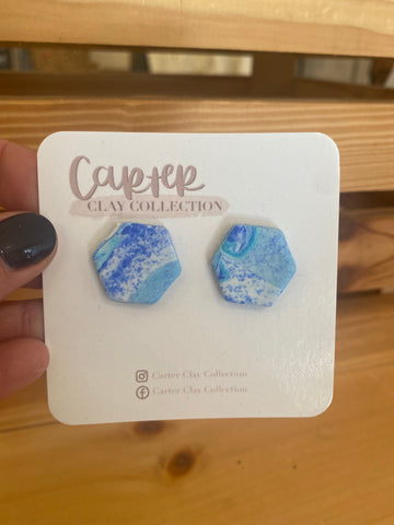 Blue Mix Stud {Carter Clay Collection}