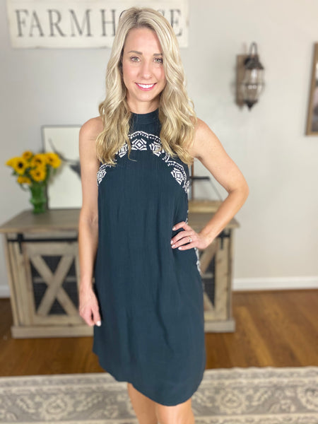 Bittersweet Mini Dress, Navy