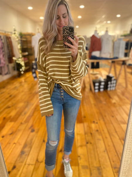 Sand and Cream Striped Top