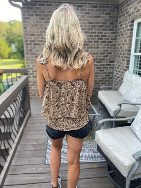 Leopard Printed Layered Top