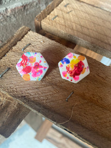 Splatter Studs {Carter Clay Collection}
