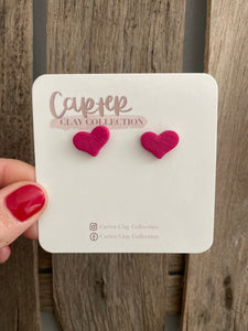 Pink Heart Studs {CarterClay Collection}