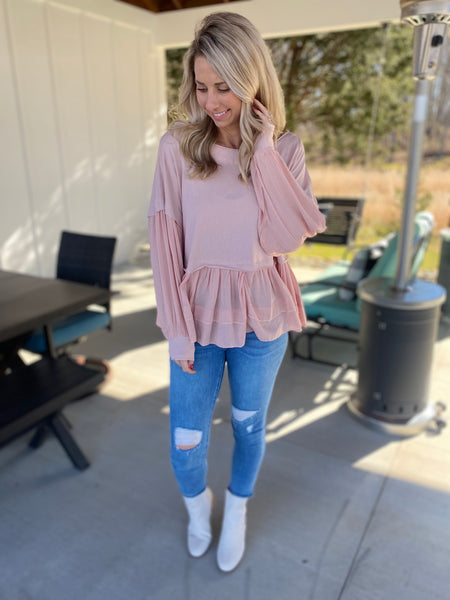 Blush Babydoll Top