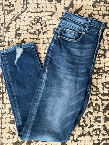 High Rise Slim Straight Denim