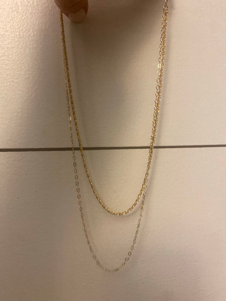 Doubled Layered Necklace, Gold