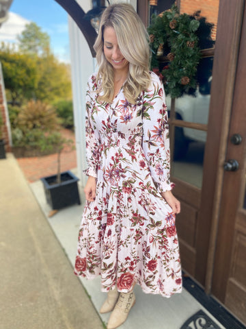 Floral Smocked Tiered Dress