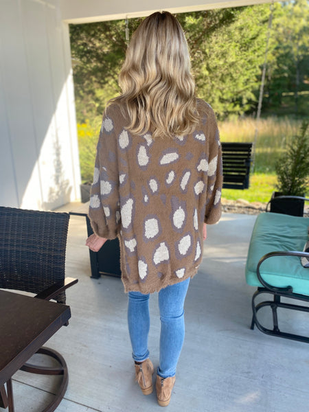 Leopard Fuzzy Sweater