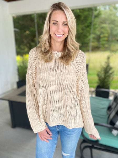 Boxy Beige Sweater